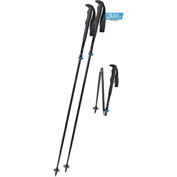 Komperdell Carbon FXP.4 Approach Vario Trekkingstock black/blue