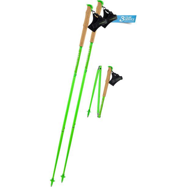 Komperdell Carbon.FXP Team Poles Foldable, vihreä