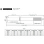 Crankbrothers Highline 3 Tige de selle télescopique Ø31,6mm, noir