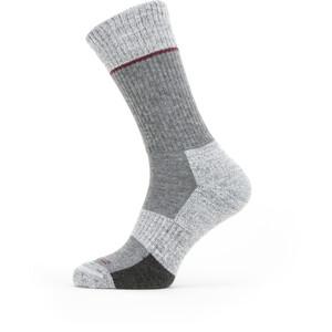 Sealskinz Solo QuickDry Calcetines Corte Medio, gris/blanco gris/blanco