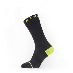 Sealskinz Waterproof All Weather Calcetines de longitud media, negro/amarillo negro/amarillo