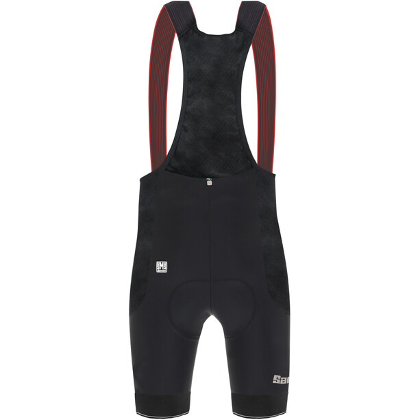 Santini Mont Ventoux Design Trägershorts Herren black