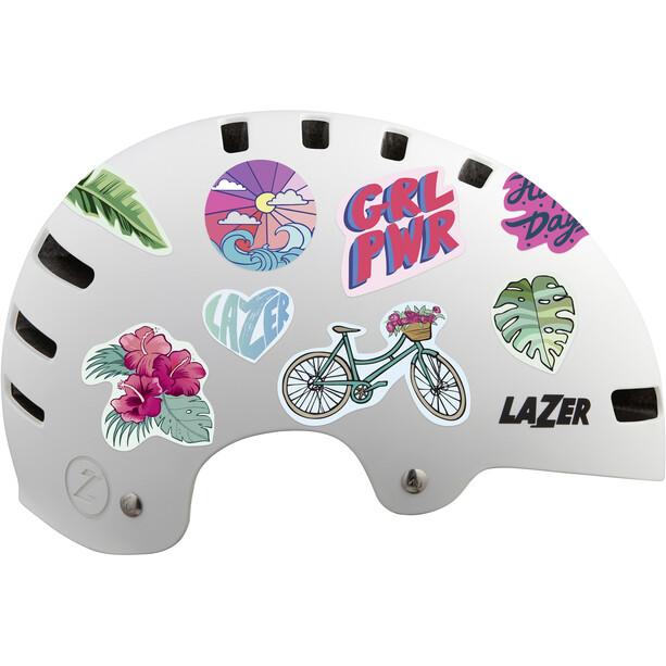Lazer One+ Sticker Helm Kinder weiß