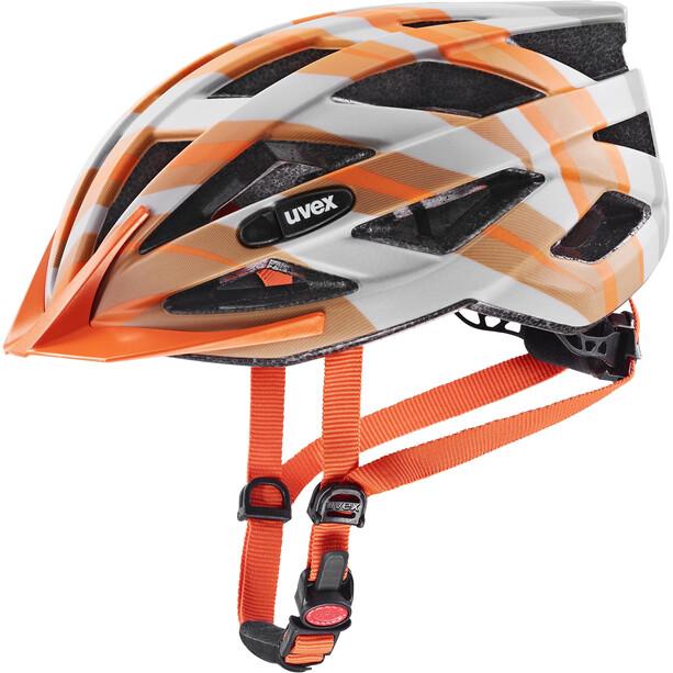 UVEX Air Wing CC Helmet Kids, gris/orange
