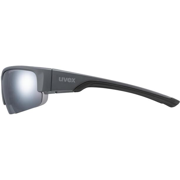 UVEX Sportstyle 215 Glasses, grey matt/litemirror silver