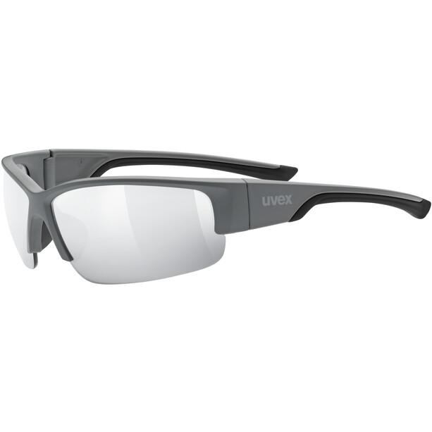 UVEX Sportstyle 215 Briller, grey matt/litemirror silver