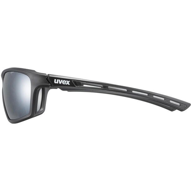 UVEX Sportstyle 229 Glasses, musta/hopea