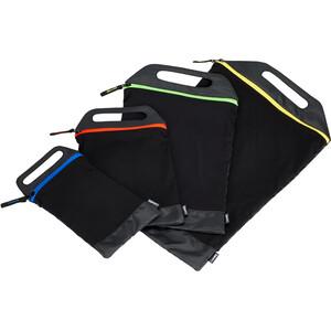 CAMPZ Zip Mesh Beutel 4er-Set schwarz schwarz