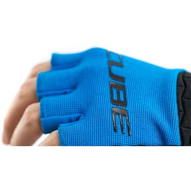 Cube Performance Kurzfinger-Handschuhe Kinder blau/schwarz