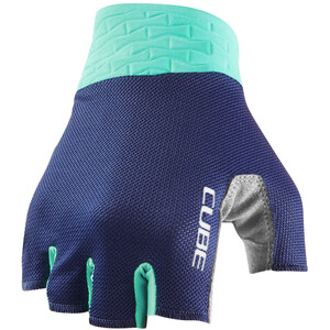 Cube Performance Kurzfinger-Handschuhe lila/türkis lila/türkis