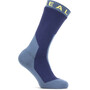 Sealskinz Waterproof Extreme Cold Weather Mid Socks navy blue/yellow