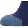 Sealskinz Waterproof Cold Weather Mid Length Socks with Hydrostop navy blue/red