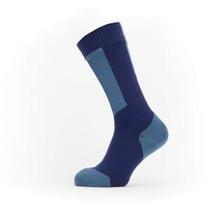 Sealskinz Waterproof Cold Weather Mid Length Socks with Hydrostop blå blå