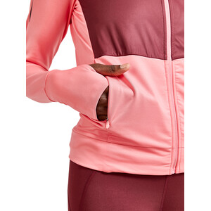 Craft ADV Charge Shiny Jersey Hood Jacket Women pink/röd pink/röd