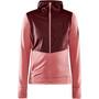 Craft ADV Charge Shiny Jersey Hood Jacket Women, vaaleanpunainen/punainen