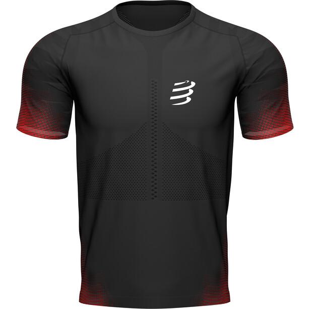 Compressport Racing Kurzarm T-Shirt Herren schwarz