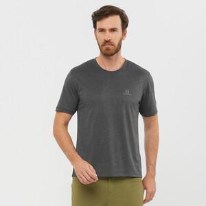 Salomon Explr Kurzarm T-Shirt Herren black/ebony/heather black/ebony/heather