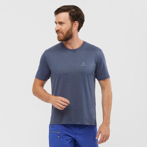 Salomon Explr Kurzarm T-Shirt Herren blau