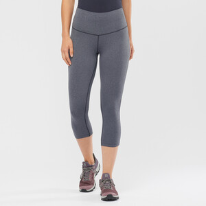 Salomon Essential 5/6 Tights Damen black/heather black/heather