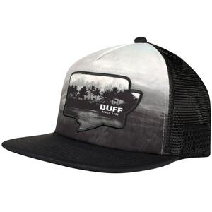 Buff Trucker Cap Flat Visor, noir/gris noir/gris
