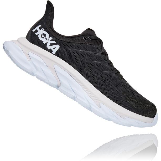 Hoka One One Clifton Edge Running Shoes Men, black/white