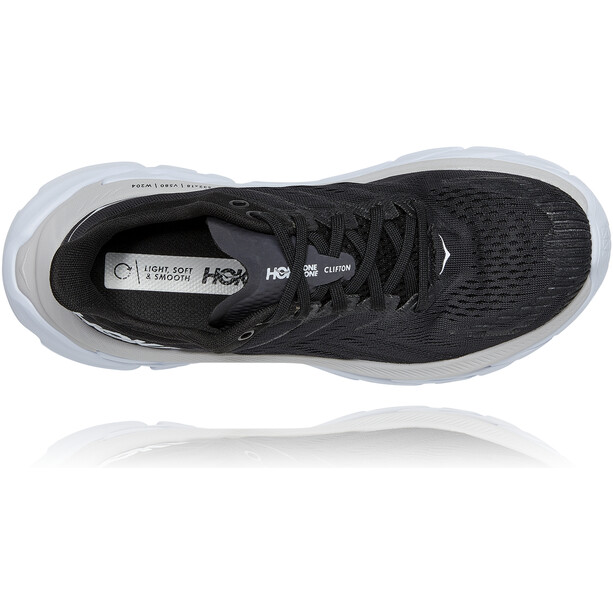 Hoka One One Clifton Edge Laufschuhe Damen black/white