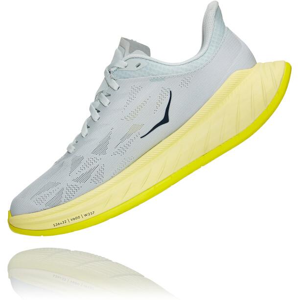 Hoka One One Carbon X 2 Schuhe Damen blue flower/luminary green