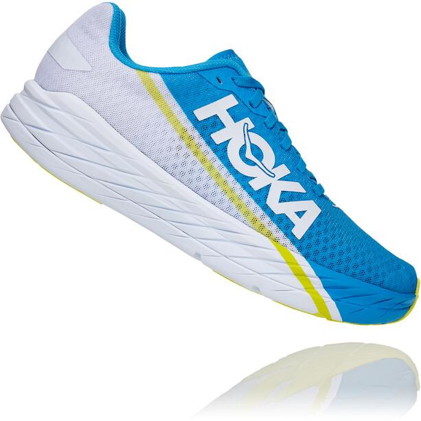 Hoka One One Rocket X Schuhe white/diva blue