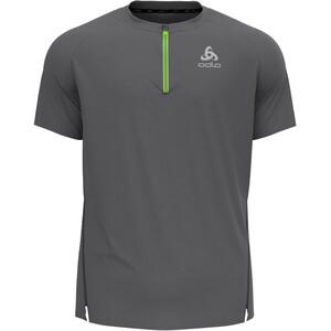 Odlo Axalp Trail T-Shirt Kurzarm 1/2 Zip Herren steel grey steel grey