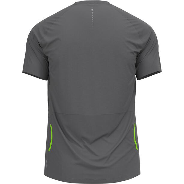 Odlo Axalp Trail T-Shirt Kurzarm 1/2 Zip Herren steel grey