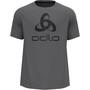 Odlo Essential Print T-Shirt Kurzarm Rundhals Herren grau
