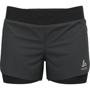 """Odlo Zeroweight 3"""" 2-in-1 Shorts Women, noir noir"""