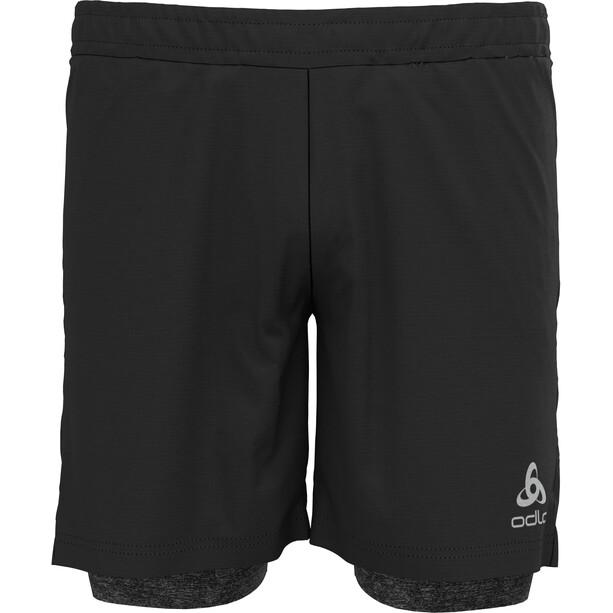 """Odlo Run Easy 5"""" 2-in-1 Shorts Herren schwarz"""