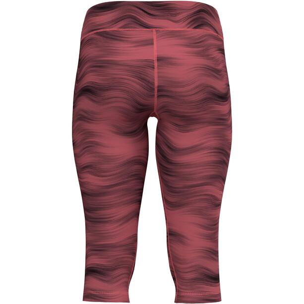 Odlo Essential Soft Print Tights 3/4 Damen rot