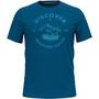 Odlo Nikko Print T-Shirt Kurzarm Rundhals Herren blau