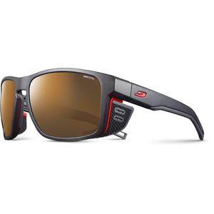 Julbo Shield M Reactiv High Mountain 2-4 Sonnenbrille schwarz/orange schwarz/orange