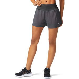 "asics Ventilate 2-N-1 3,5"" Shorts Damen graphite grey/peach petal graphite grey/peach petal"