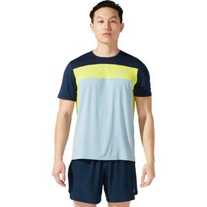 asics Race SS Top Men, sininen/keltainen sininen/keltainen