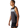 asics Race Singlet Herren graphite grey/performance black