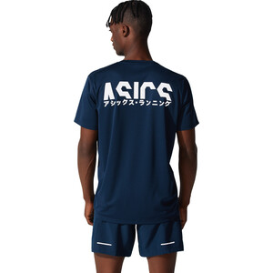 asics Katakana SS Top Men blå blå