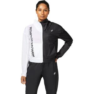 asics SMSB Run Jacket Women, valkoinen/musta valkoinen/musta