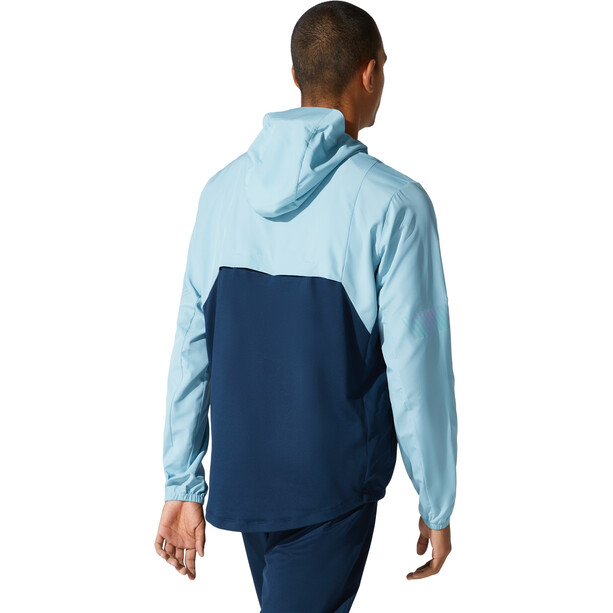 asics Visibility Jacket Men, smoke blue/french blue
