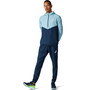 asics Visibility Jacke Herren smoke blue/french blue