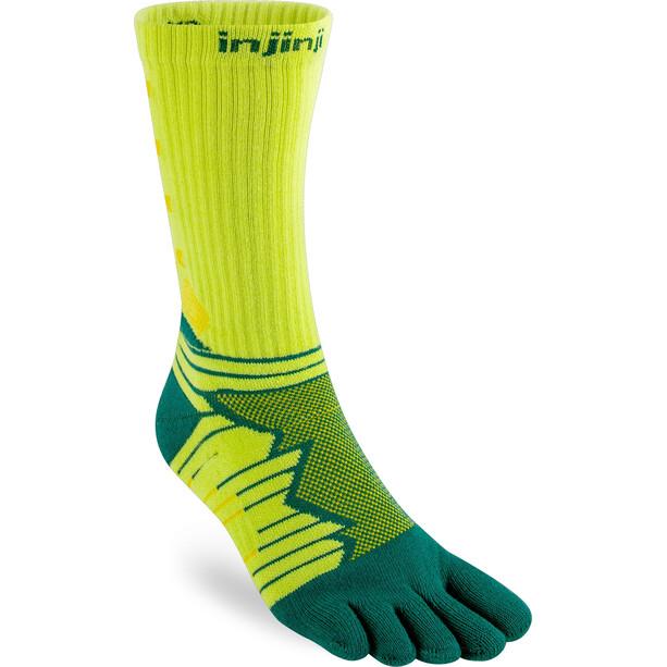 Injinji Ultra Run Crew Socks gul/grön