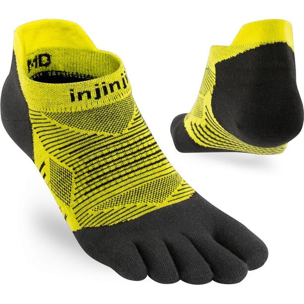 Injinji Run Lightweight No Show Socks Men svart/gul