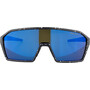 Alpina Ram HM+ Brille black blur matt/blue mirror