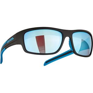 Alpina Testido Glasses black matt/blue/blue mirror black matt/blue/blue mirror