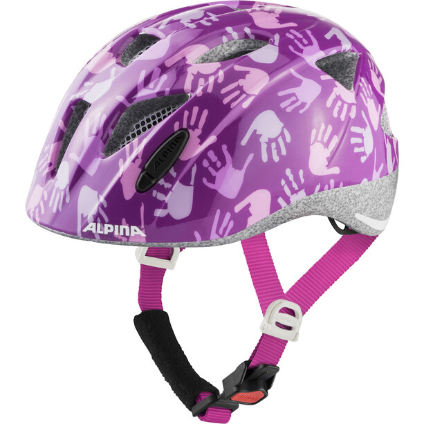 Alpina Ximo Helm Kinder berry hands gloss