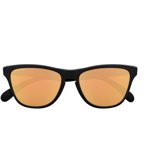 Oakley Frogskins XS Sonnenbrille Jugend matte black/prizm rose gold polarized