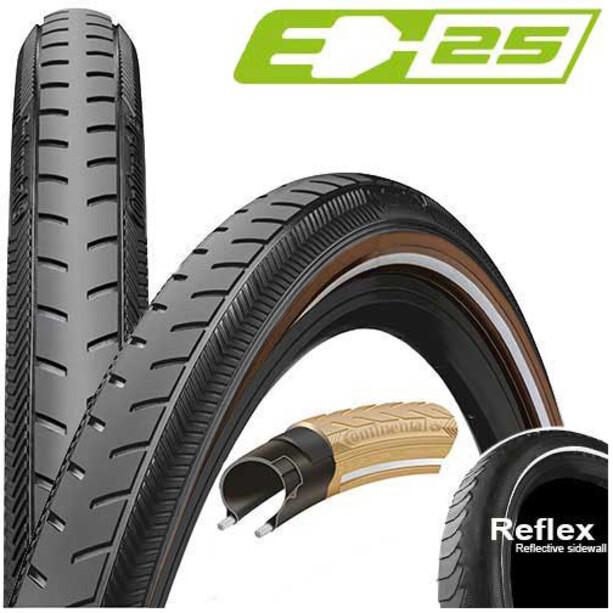 "Continental Ride Classic Drahtreifen 28x1 1/2"" Reflex E-25 black/brown"